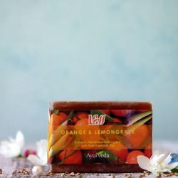 Mydło pomarańcza i trawa cytrynowa Lass Naturals