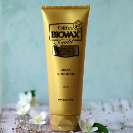Argan i 24k Złoto szampon wygładzający Biovax