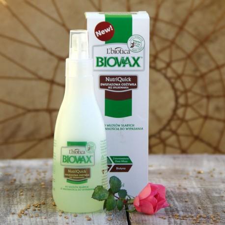 Dwufazowa odżywka do włosów słabych Biovax