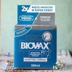 Regenerująca maska do włosów Keratyna Jedwab Biovax