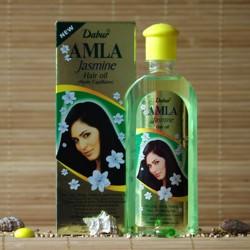 Jaśminowy olejek do włosów z amlą Dabur