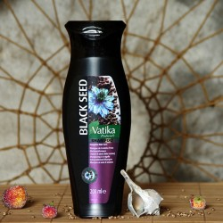 Kompletna pielęgnacja włosów szampon z czarnuszką Dabur Vatika