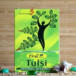 Hesh Tulsi w pudrze oczyszcza skórę