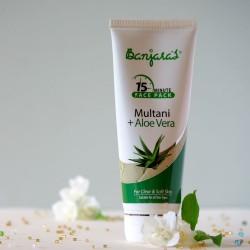 Multani & Aloes maseczka do twarzy - Banjara's