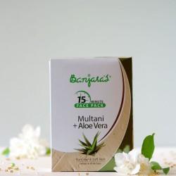 Multani & Aloes maseczka do twarzy w proszku - Banjara's
