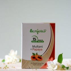 Multani & Papaja maseczka do twarzy w proszku - Banjara's