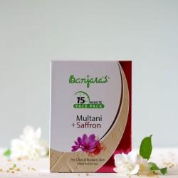 Multani & Szafran maseczka do twarzy w proszku - Banjara's
