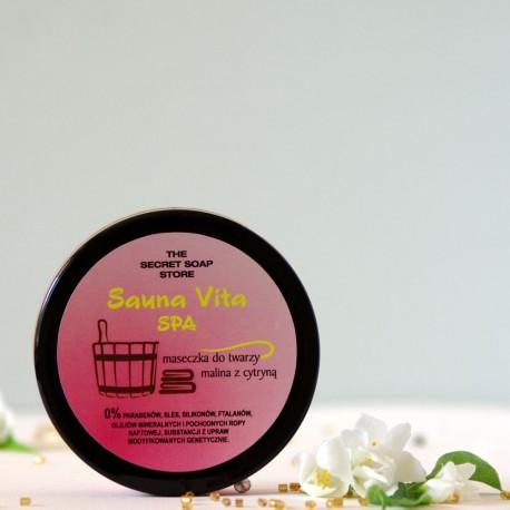 Maseczka do twarzy Malina & Cytryna - The Secret Soap Store