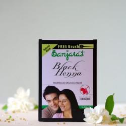 Czarna henna do włosów z hibiskusem - Banjara's