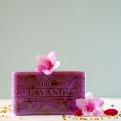 Marsylskie mydło - Kwiaty Lawendy Le Chatelard