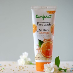 Żel do mycia twarzy Multani & Pomarańcza - Banjara's