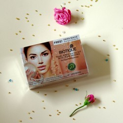Rozjaśniający zestaw kosmetyków z perłami - Biotique