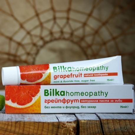 Homeopatyczna greipfrutowa pasta do zębów Bilka 75 ml.