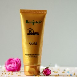 Złota maseczka do twarzy - Banjara's