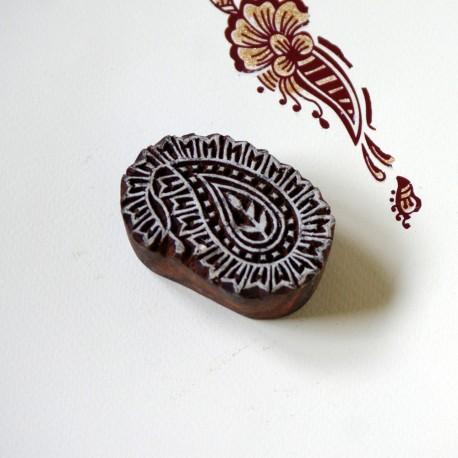 Drewniany stempel - indyjski ornament