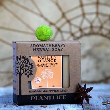 Wanilia i pomarańcze naturalne mydło PlantLife