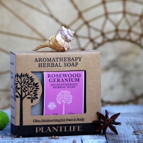 Różane geranium mydło naturalne PLANTLIFE