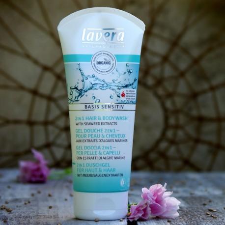 Żel do kąpieli i szampon do włosów z algami morskimi Lavera