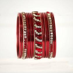Elegancki komplet bransoletek indyjskich
