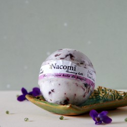 Musująca kula do kąpieli z płatkami róż - Nacomi