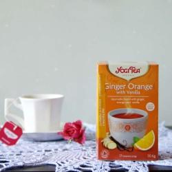 Bio Herbata Ginger Orange with Vanilla - YOGI TEA