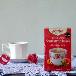 Bio Herbata Positive Energy Cranberry Hibiscus - YOGI TEA