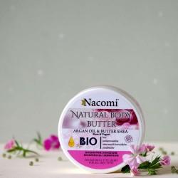 Naturalne masło do ciała Róża i Jogurt - Nacomi
