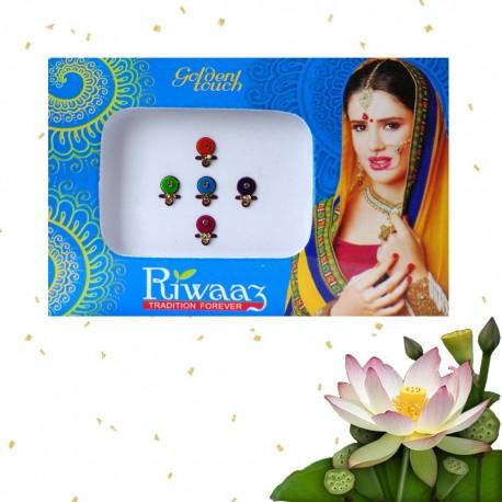 Indyjskie eleganckie bindi 8 sztuk