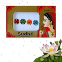 Indyjskie okrągłe bindi 4 sztuki