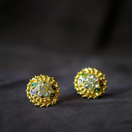 Indyjskie okrągłe kolczyki w stylu bollywood