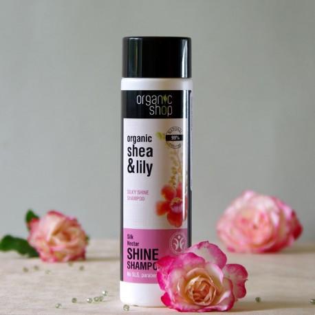 Jedwabny Nektar szampon przywracający włosom blask - organic shop
