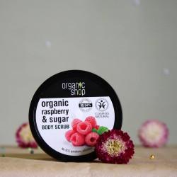 Peeling do ciała Krem Malinowy - organic shop