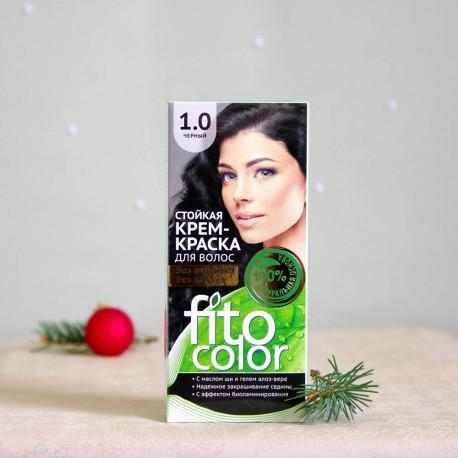 Krem farba do włosów 1.0 Czerń - fitocolor
