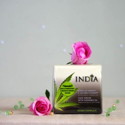 Krem do twarzy z olejem z konopi - INDIA