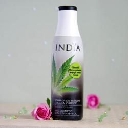 Szampon do włosów z olejem z konopi - INDIA