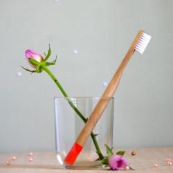 Pomarańczowa bambusowa szczoteczka do zębów miękka - mohani