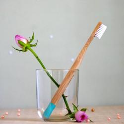 Turkusowa bambusowa szczoteczka do zębów miękka - mohani
