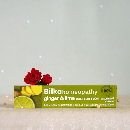 Homeopatyczna pasta do zębów Imbir i Cytryna - Bilka