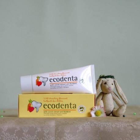 Pasta do zębów dla dzieci poziomki, marchew, kalident - ecodenta