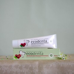 Usuwająca nalot nazębny pasta do zębów żurawina, kalident - ecodenta