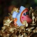 Brelok z jedwabiu - ryba tygrysia