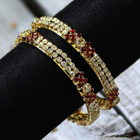 Eleganckie bransoletki z kryształkami
