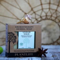 Cedr i szałwia 100 % naturalne mydło