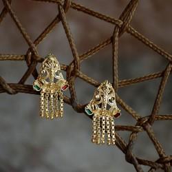 Indyjskie kolczyki w stylu bollywood