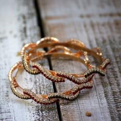 Stylowe bransoletki z kryształkami 2 sztuki