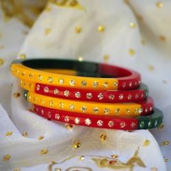 Indyjskie bransoletki 4 sztuki